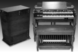 Hammond organ and Leslie cabinet